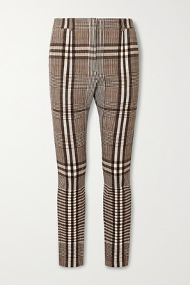 Burberry Checked Woven Skinny Pants - Gray