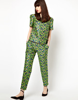 Jaeger Boutique by Boutique By Tailored Trouser In Floral Jacquard - Multi