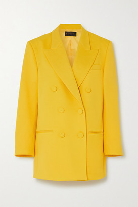 Dundas Oversized Double-breasted Grain De Poudre Wool-blend Blazer - Yellow
