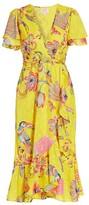 Banjanan Lisbon Palak Print Faux-Wrap Midi Dress