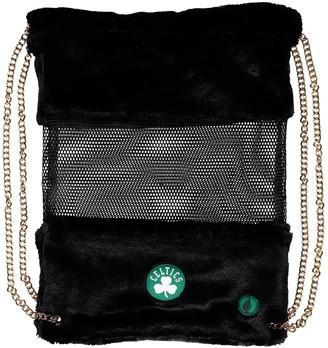 Boston Celtics Mesh Gold Chain Drawstring Bag
