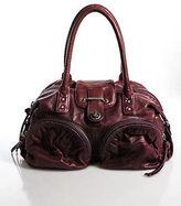 Botkier Red Leather Twist Lock Front Medium Bianca Satchel Handbag