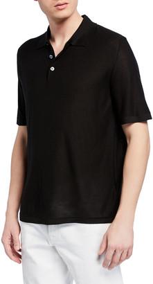 Brioni Men's Silk Polo Shirt