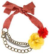 M Missoni Floral Chain-Link Belt