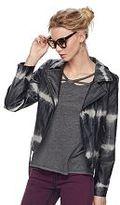 Rock & Republic Women's Tie-Dye Moto Faux-Leather Jacket
