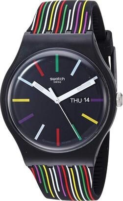 Swatch I Love Your Folk Quartz Silicone Strap
