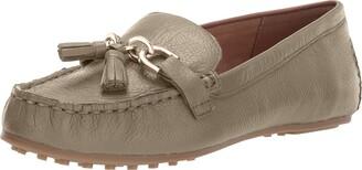 Aerosoles Women's Soft Drive Loafer - Leather Round Toe Penny Style Walking Flat with Memory Foam Footbed (11W - Orange Nubuck)