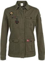 Fat Face Hastings Badge Garment Dye Jacket, Khaki