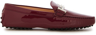 Tod's Crystal-embellished Patent-leather Loafers