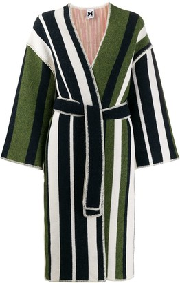 M Missoni Striped Knit Cardi-Coat