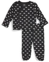Rosie Pope XO Kimono Top & Footed Pant Set (Baby Girls)
