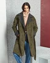 Fashion World Double Breasted Borg Coat