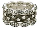 Freida Rothman Women's Instrial Finish Set Of 3 Stackable Rings