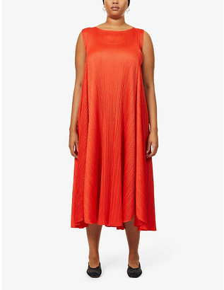 Pleats Please Issey Miyake Giocoso Panel pleated midi dress