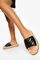 Thumbnail for your product : boohoo Quilted Espadrille Mule
