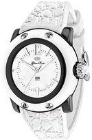 Glam Rock Women's Miami Beach 40mm White Silicone Band Polycarbonate Case Quartz Analog Watch GR2301