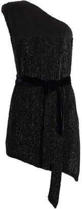retrofete Ella One-Shouldered Sequin Dress