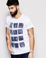 Wrangler T-shirt Polaroid Denim Print