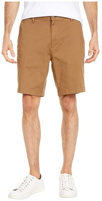 Nautica Flat Front Shorts (Oyster Brown) Men's Shorts