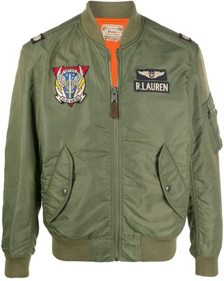 Polo Ralph Lauren Embroidered Insignia Bomber Jacket