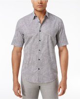 Alfani Big and Tall Men's Geometric-Print Cotton Shirt, Created for Macy's