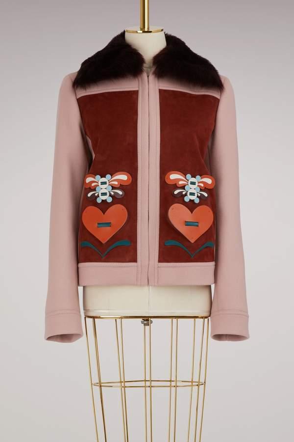 Anya Hindmarch Wool short 70s jacket