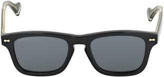 Gucci Gg0735s Decor Squared Acetate Sunglasses