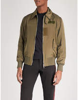 Alexander Mcqueen Poem Embroidered Shell Bomber Jacket