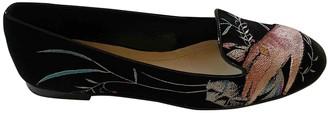 Christian Dior Black Velvet Flats