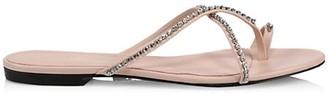 3.1 Phillip Lim Kiddie Crystal-Embellished Leather Toe-Loop Sandals
