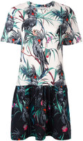 Paul Smith macaw print flared dress - women - Cotton - XS