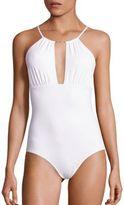Melissa Odabash Shirred Keyhole Front Swimsuit