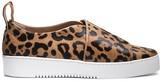Calvin Klein Collection Leopard Print Haircalf Platform Sneaker
