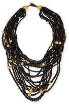 Viktoria Hayman Multi-Strand Beaded Statement Necklace