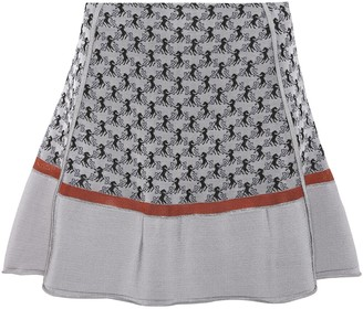 Chloã© Jacquard knit miniskirt