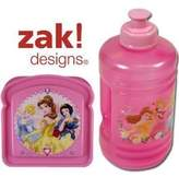 Zak Designs Disney Princess Lunch Set (Water Bottle & Sandwich Box) (Pink)