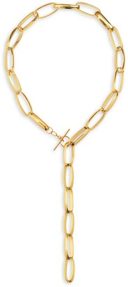 GABIRIELLE JEWELRY 22K Goldplated Chain Link Lariat Necklace
