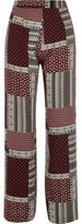 River Island Womens Red patchwork wide leg pants