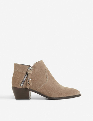 Bertie Peonies leather ankle boots