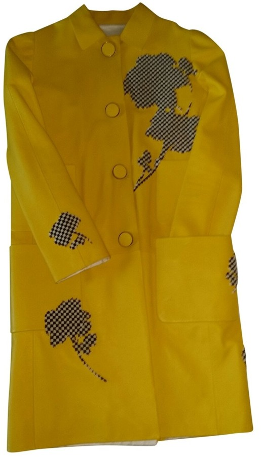 Louis Vuitton Yellow Leather Coat for Women
