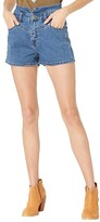 Thumbnail for your product : Rock and Roll Cowgirl High-Rise Denim Shorts in Medium Wash 68H8203