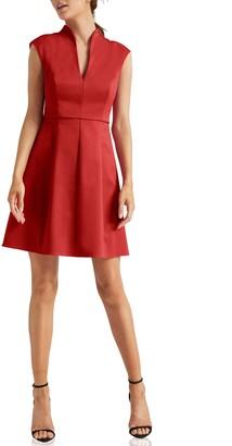 Halston Cap Sleeve Cocktail Dress