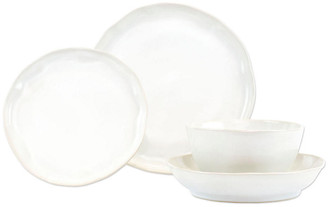 Vietri Set of 4 Forma Cloud Place Setting - White