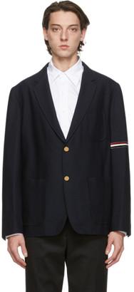 Thom Browne Navy Unconstructed Sports Coat Blazer