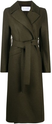 Harris Wharf London Long belted trench coat