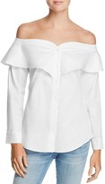 Bardot Natasha Off-the-Shoulder Shirt
