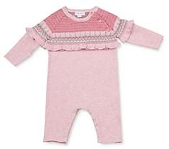 Angel Dear Girls' Ruffled Knit Coverall - Baby