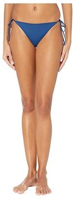 O'Neill Saltwater Solids Side Tie Pant Bottoms (Navy) Women's Swimwear