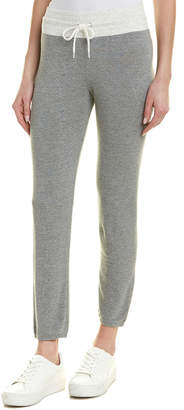 Monrow Supersoft Two Toned High Waist Vintage Sweat Pant