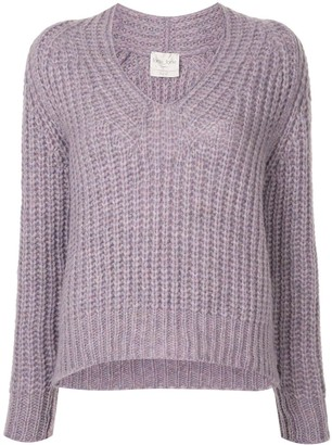 Forte Forte V-neck cable-knit jumper